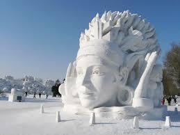 Snow Head Sculpture