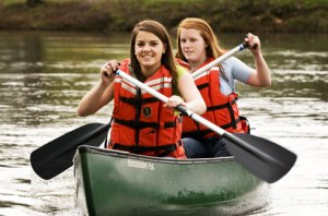 Girls Canoeing