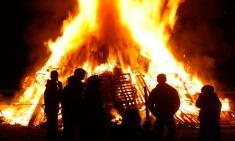 Bonfire night fire